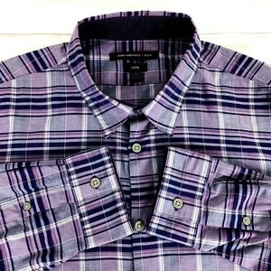 John Varvatos Star USA Men's L/S Luxe Shirt Purple